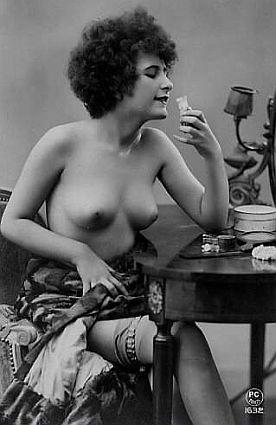 vintage lady at her vanity