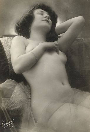 vintage beauty relaxing