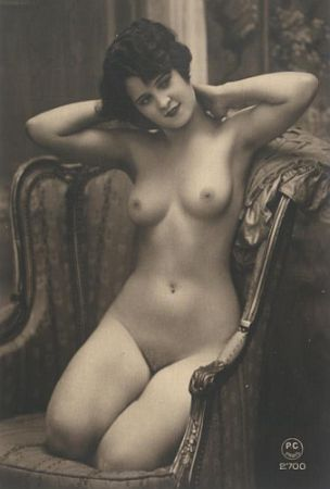 vintage beauty in a chair