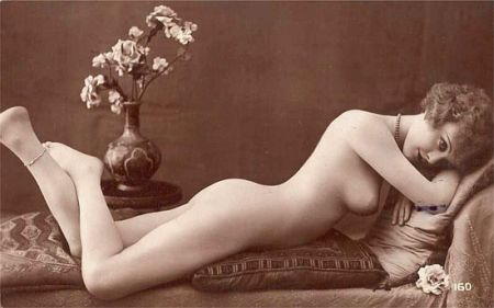 reclining vintage nude
