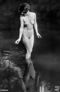 vintage postcard nude